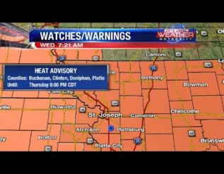 heat-advisory-continues-today-with-isolated-morning-showers